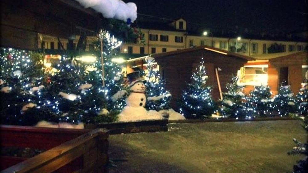 Foto Con La Neve Di Natale.Ecco Il Villaggio Di Natale In Darsena Mercatini Slitta E Presepe Foto