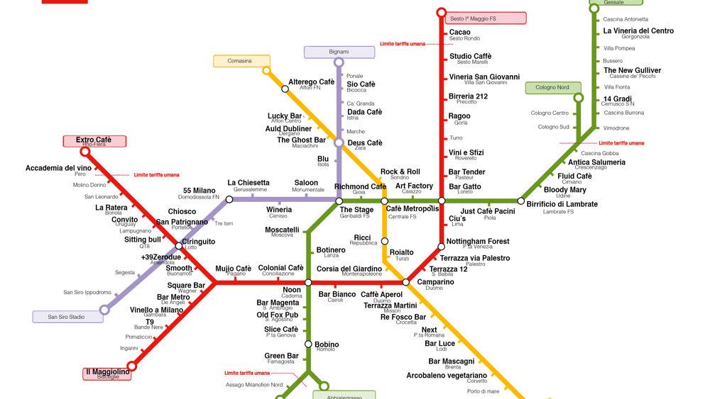 Stazioni metro 39 a milano con i nomi dei locali pub e bar for Nomi di locali famosi