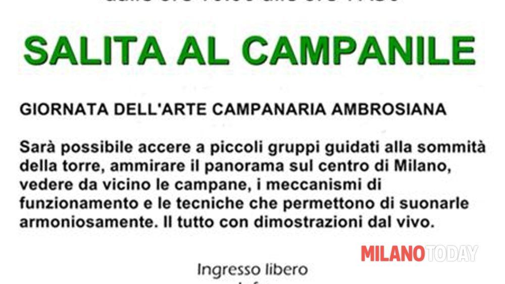 Campanile aperto in via San Vittore 25 a Milano sabato 27 settembre