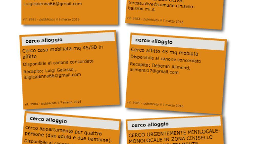 Cerco casa cerco affitto cinisello sito comune for Cerco sito internet